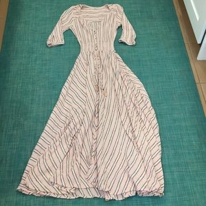 Spell XS pink striped dress